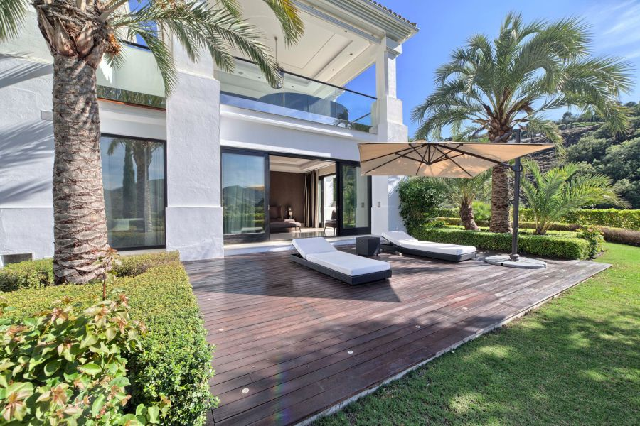 La Zagaleta Mediterrane Villa mit raumhohen Fenster Henger Immobilien Marbella